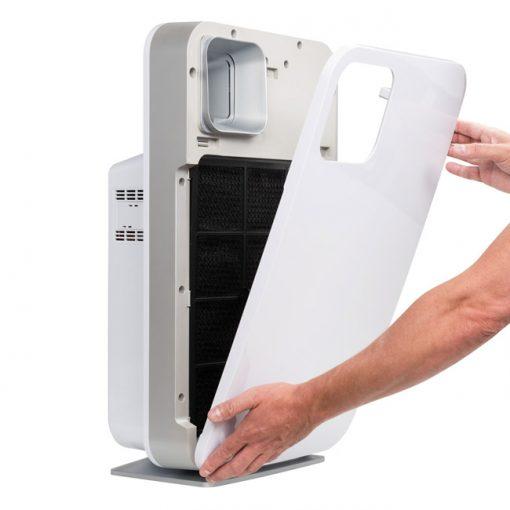 De filters van de ZX9000 luchtreinigers zijn eenvoudig schoon te maken en te vervangen.